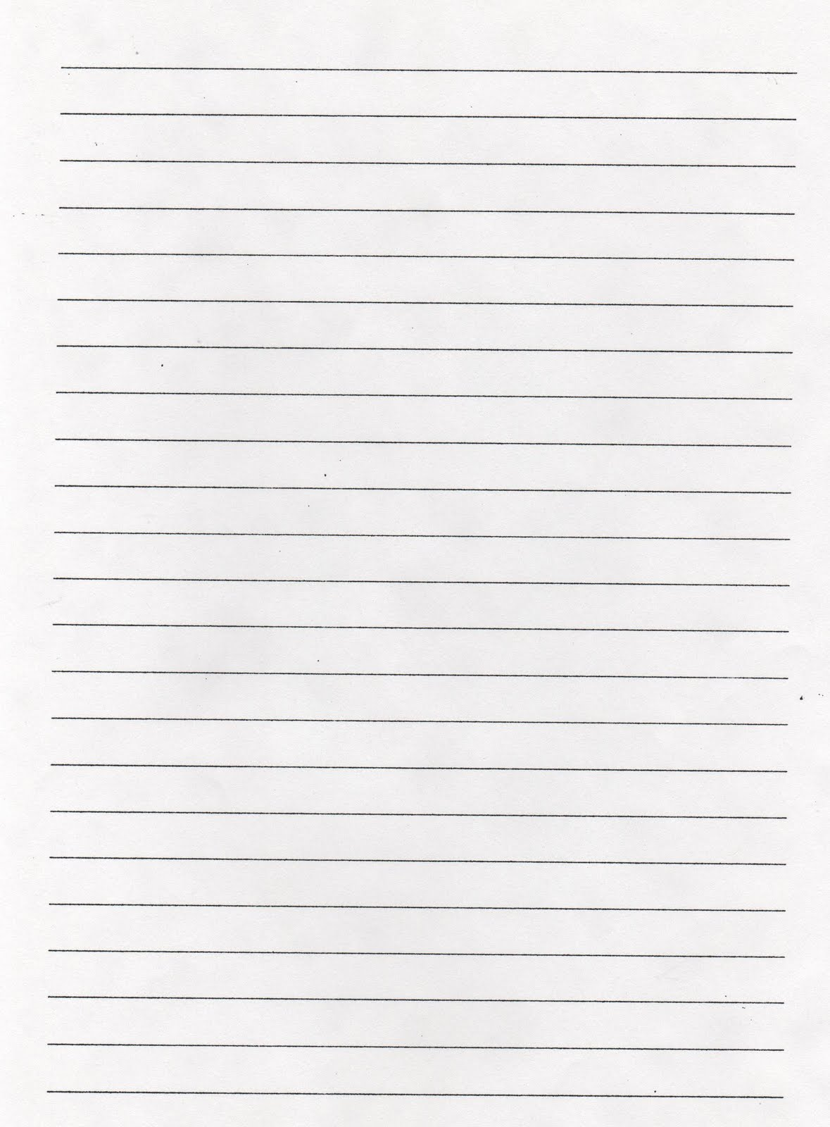 printable lined paper template – School Writing Paper Template