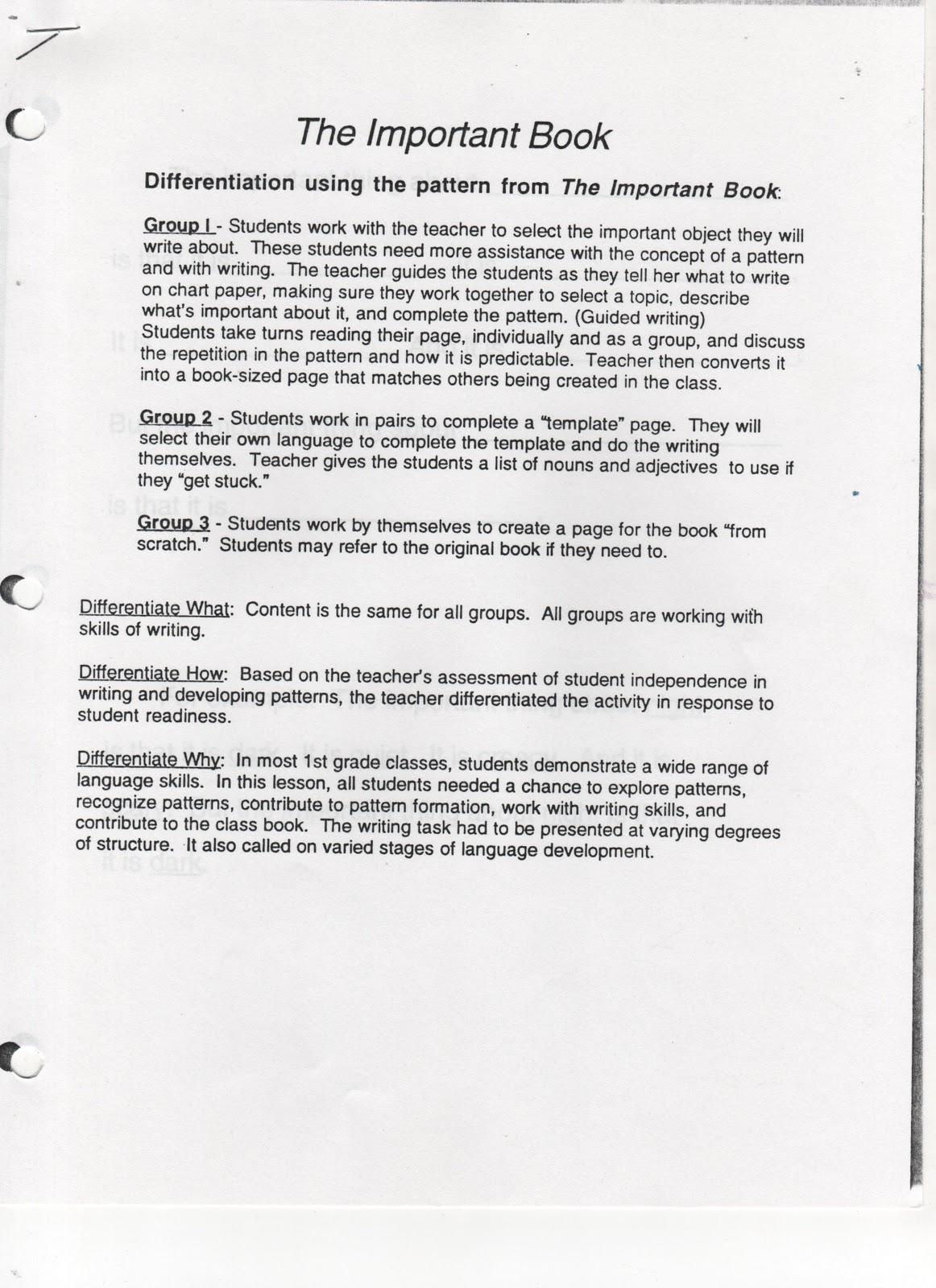 ELEMENTARY SCHOOL ENRICHMENT ACTIVITIES: January 2009
