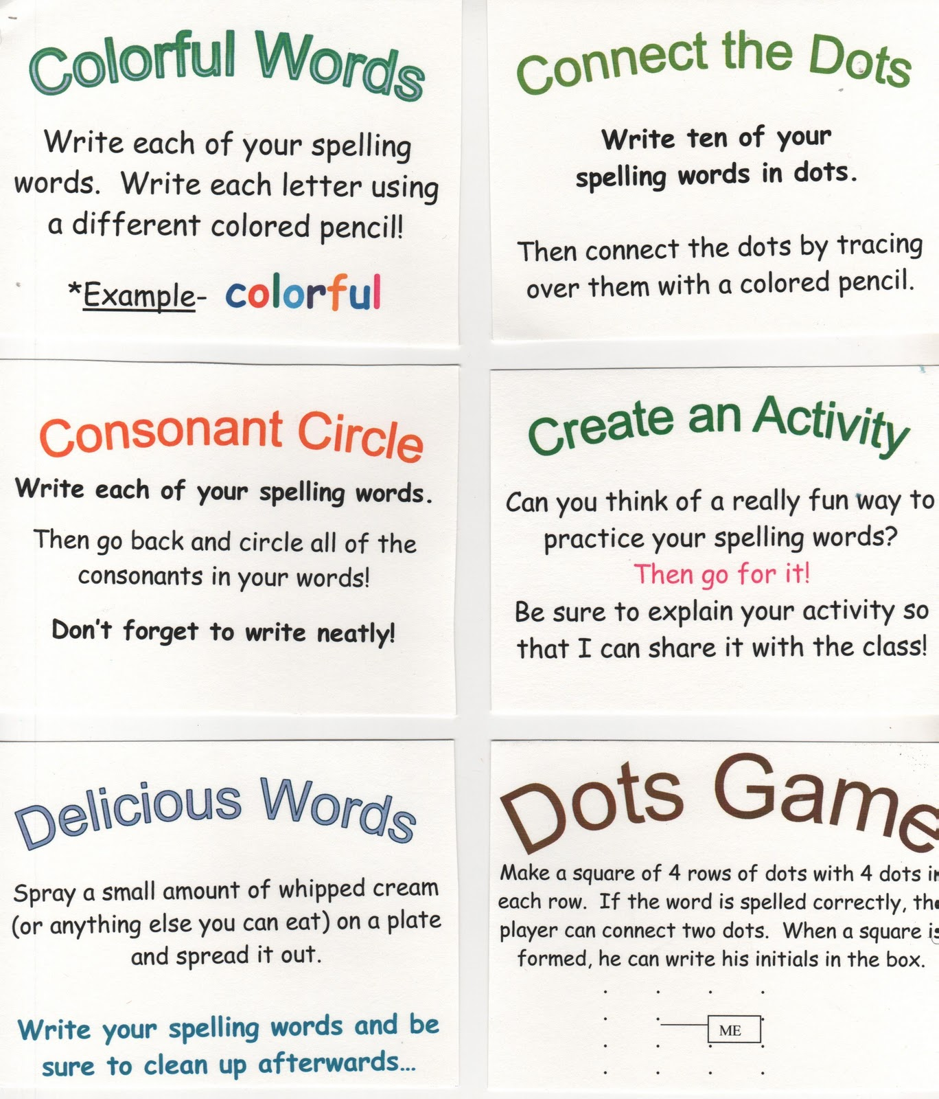 Classroom Enrichment Ideas ~ Elementary school enrichment activities spelling ideas