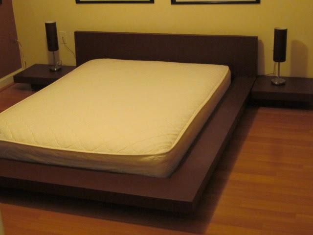 Fernandez cabinet cama de plataforma de base de madera y - Bases de camas de madera ...