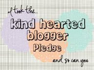 Kind Hearted blogger pledge: say no to bullying!