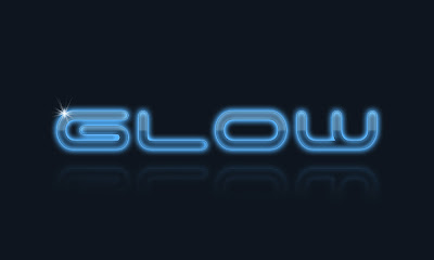 Glowing Glossy Glass Text