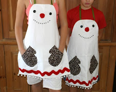 Frosty aprons by Nana