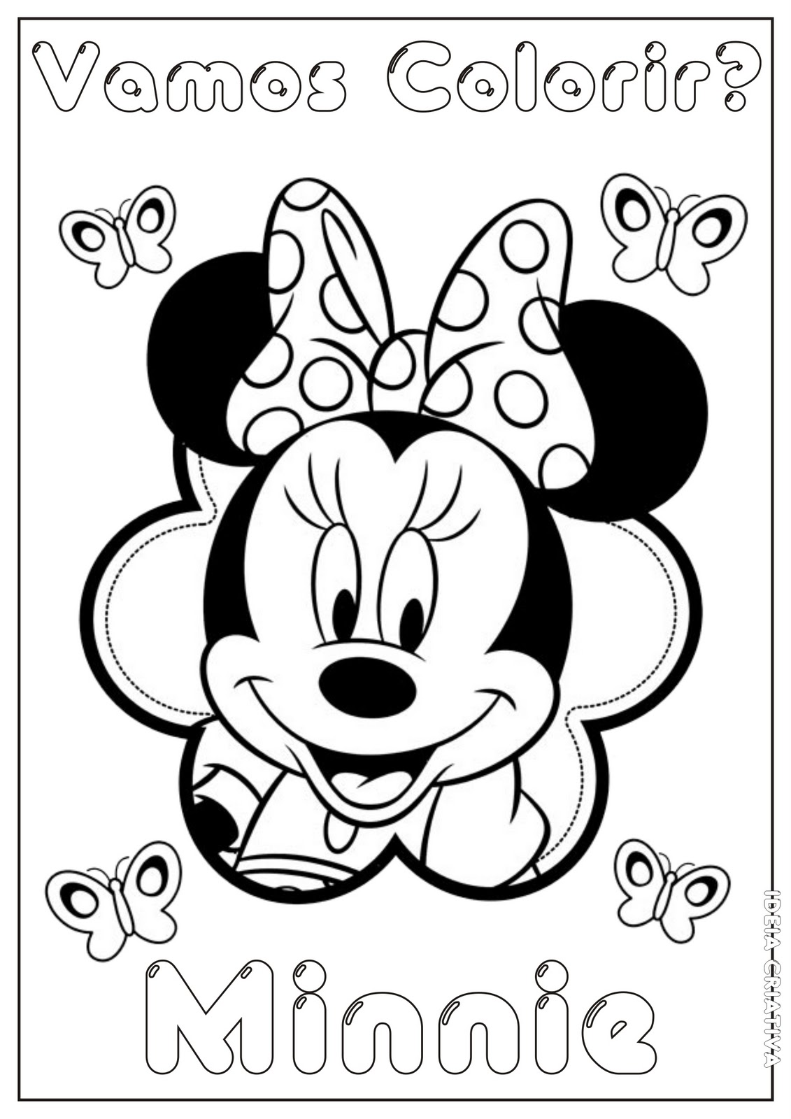Minnie Colorir  Colorir Minnie