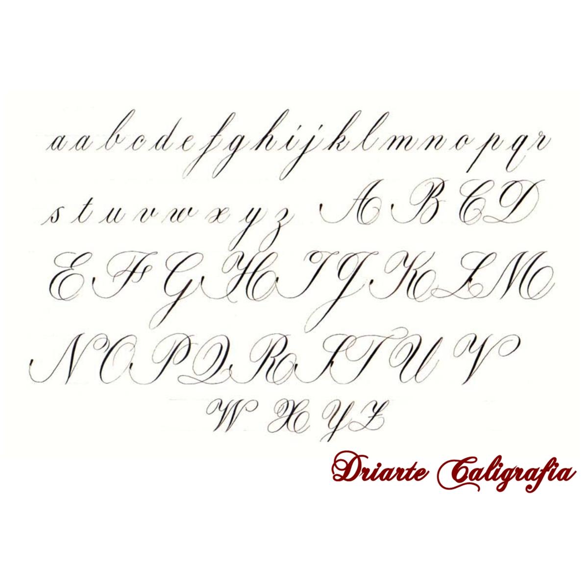 Caligrafia Cursiva Inglesa Atelier Adriana Guirro Arte & Design