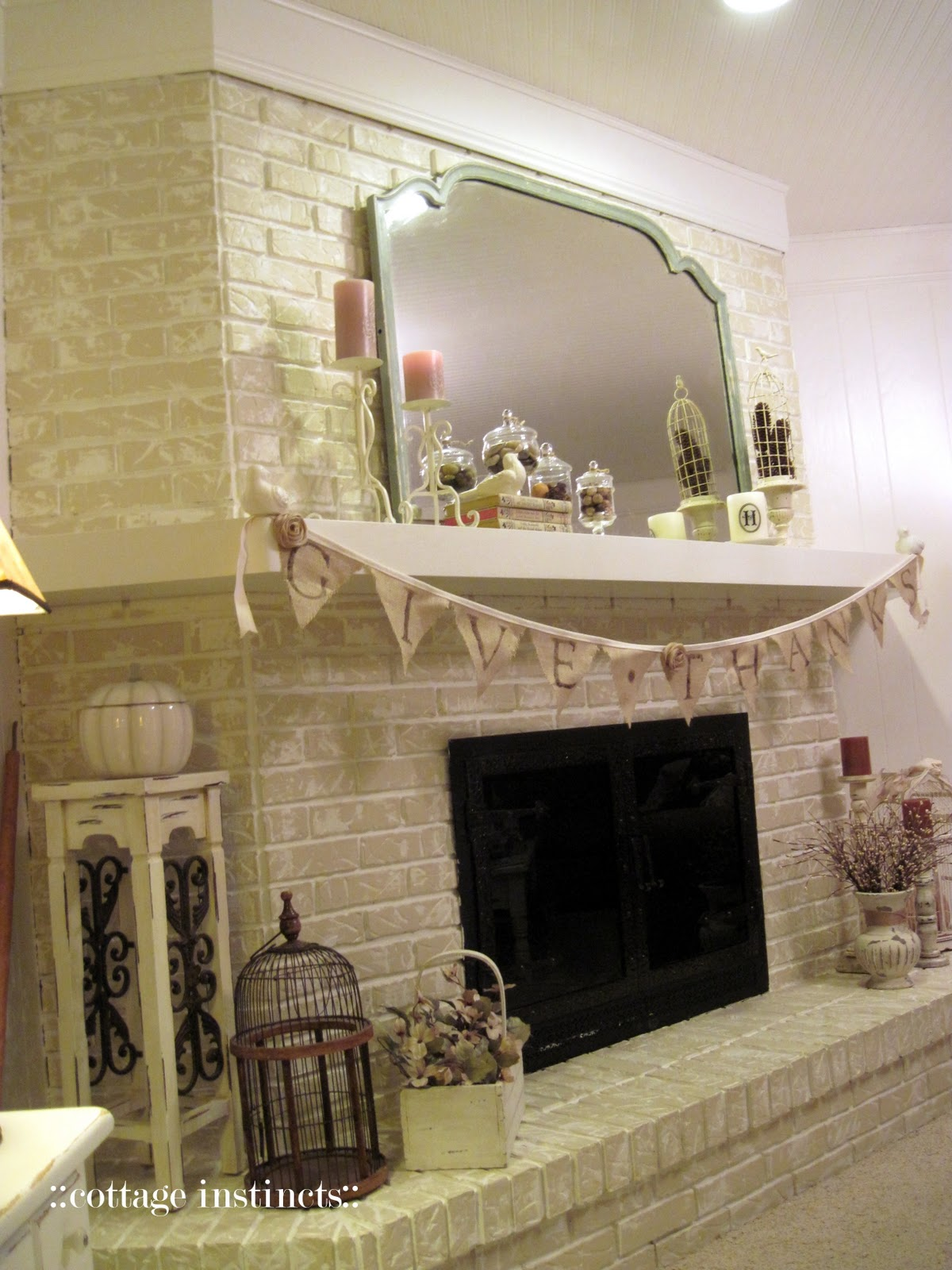 Cottage Instincts Fireplace Before And After With Some
