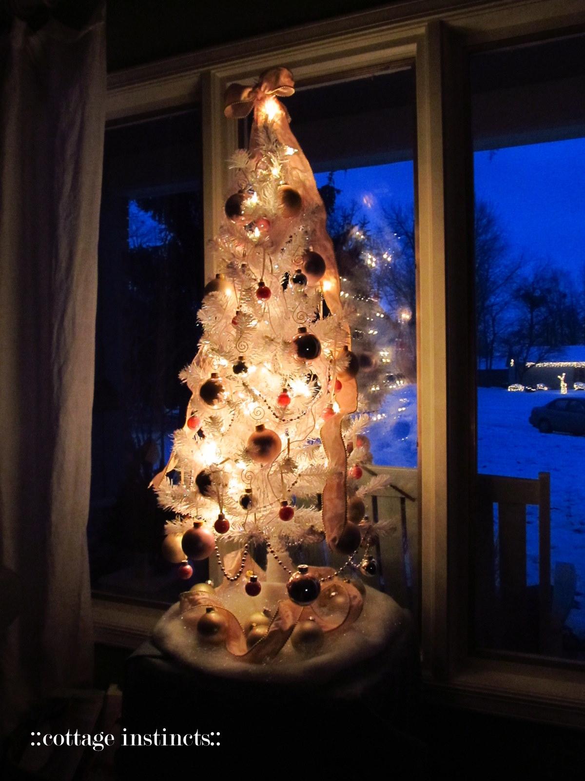White Iridescent Christmas Tree