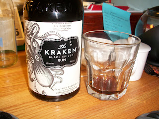 Kraken Rum with beverage