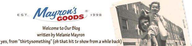Melanie Mayron at Mayron's Goods