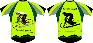 Downhill MTB Green Jersey