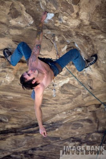 Rest Position in Climbing Overhang