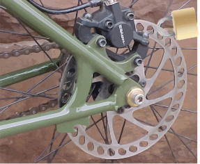 Lock on Bike Brake Disk