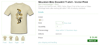 Downhill Bike T-shirt - Highball