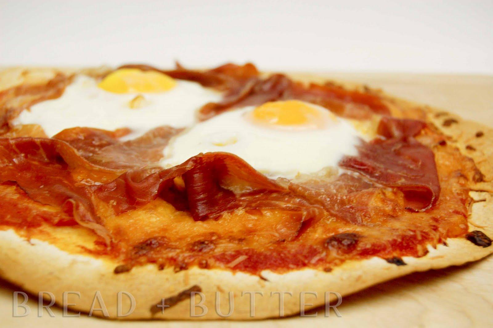 regular pizza and voila lavash breakfast pizza serves 2