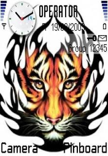 Tiger Tattoo Tribal Nokia Themes for Nokia 6630 | RockMobiles