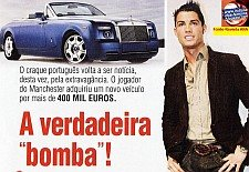 "CRISTIANO RONALDO E A SUA ""BOMBA"" DE 400 MIL EUROS"