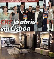 """LUCIANA ABREU E CRISTIANO RONALDO NA INAUGURAÇÃO DA NOVA LOJA """"CR7"""""""