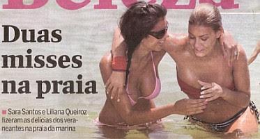 Yahooo Sara Santos E Liliana Queir Z Divertidas Na Praia Da Marina