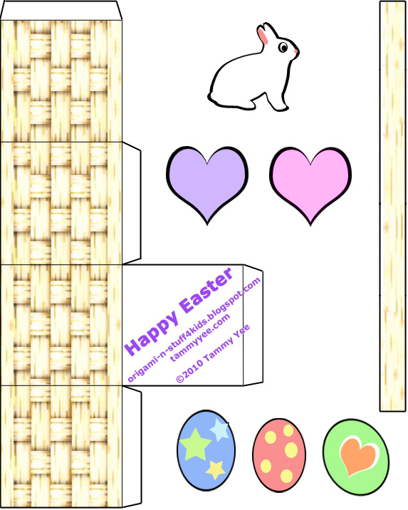 Print and Cut Easter Basket