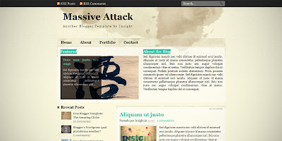 Template Massive Attack para blogger