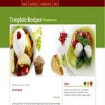 Recipes Blogspot Template