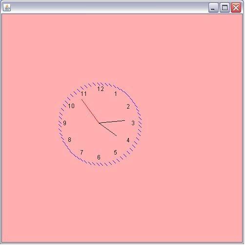 JAVA CODE SPOT: JAVA : Analog Clock