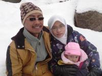 snow time....family pic