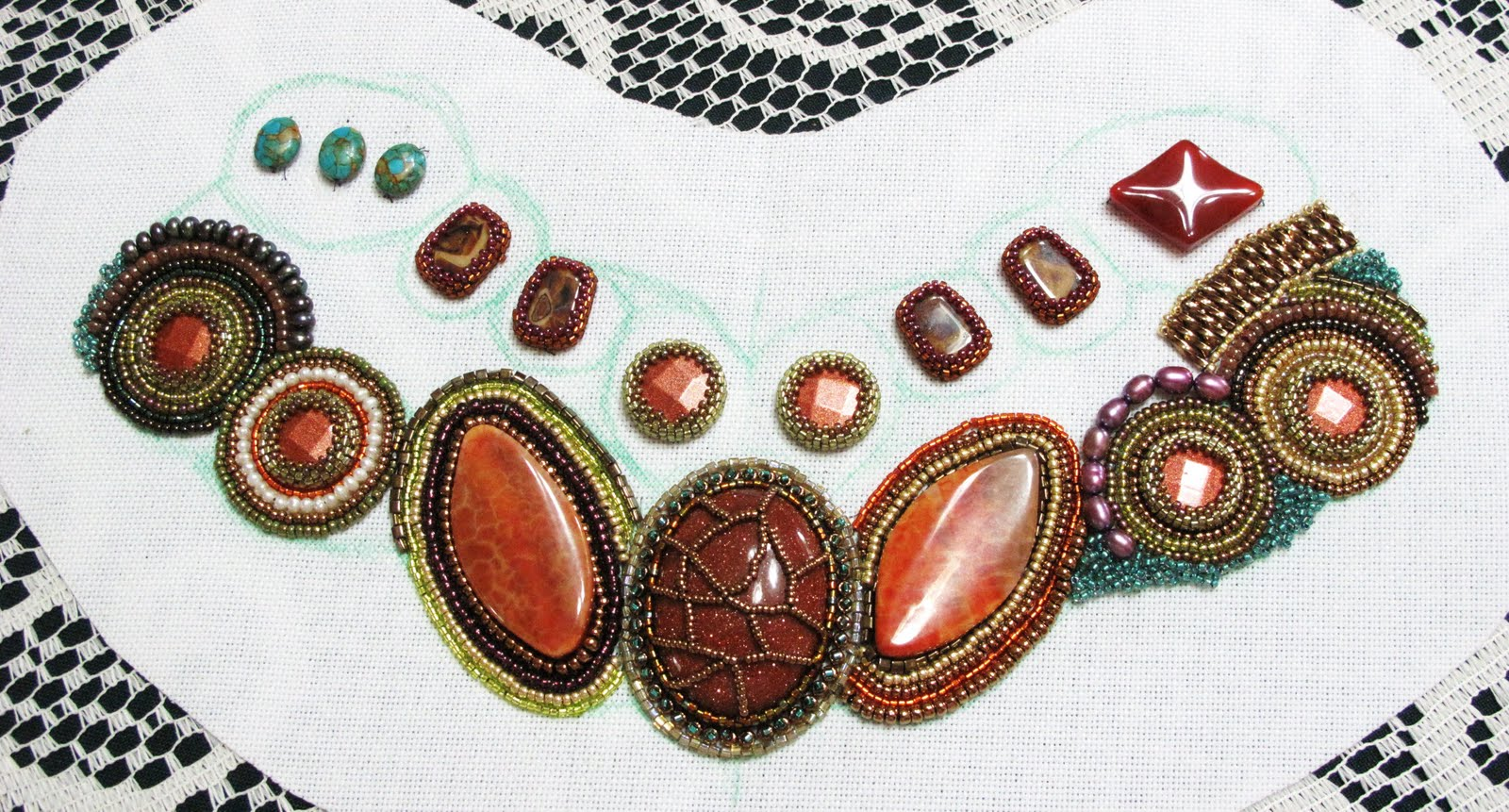 yam beadwork embroidery collar