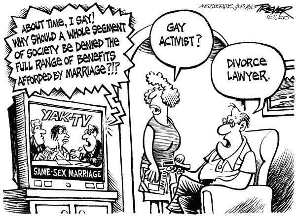 cartoons referring to same sex marriage
