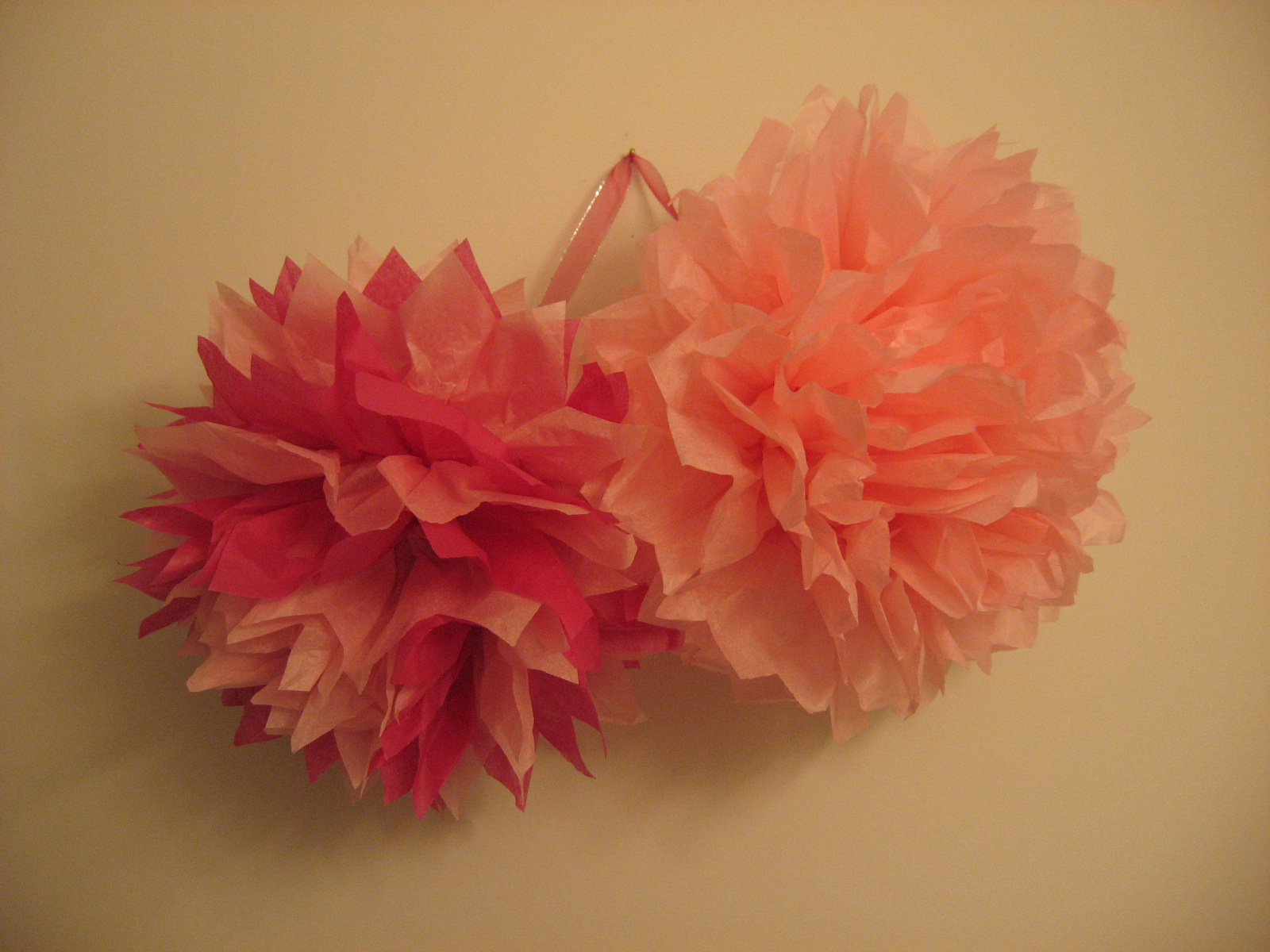 Sugar And Shimmer Party Perfect Valentines Day Tissue Paper Pom
