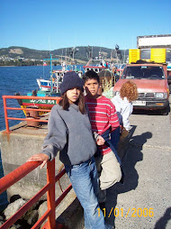 Maca, John & Katy in Ancud, Chiloe