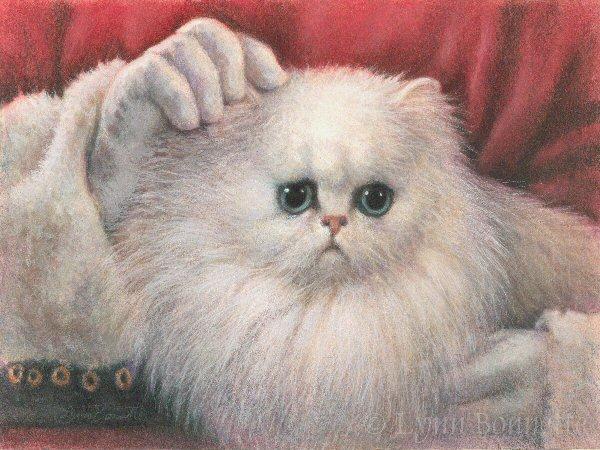 Persian Cat Painting Wallpaper Desktop HD