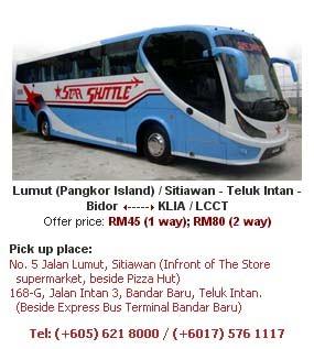 Bas Star Shuttle, Sitiawan - Teluk Intan - KLIA - LCCT