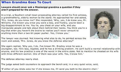 Grandma in court