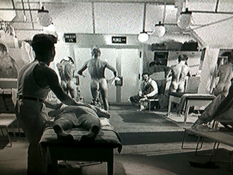 ... quite suggestive and even flaunt nudity - that locker room scene (above) ...