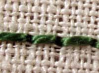 Portuguese Knotted Stem Stitch