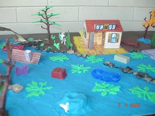 El grupo de 6o 18 elaborò maquetas representando una inundaciòn, un
