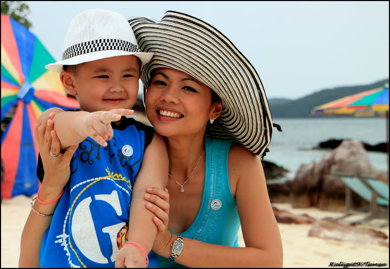 Khai Island, Phuket with son...