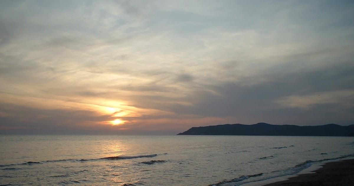 Itinerari di pesca in camper tramonto in maremma - Tavole maree castiglione della pescaia ...