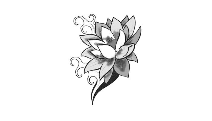 dibujo flor tatuarse: