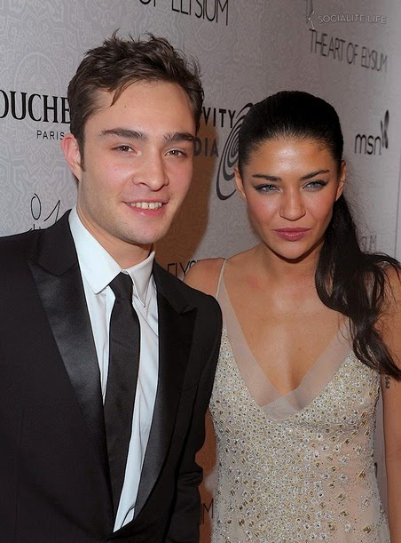 Ed Westwick and wife