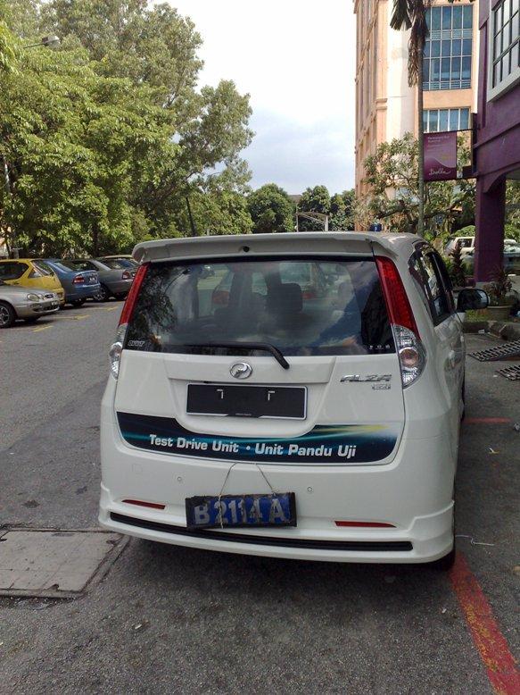 The rear of the car look like Perodua Myvi.