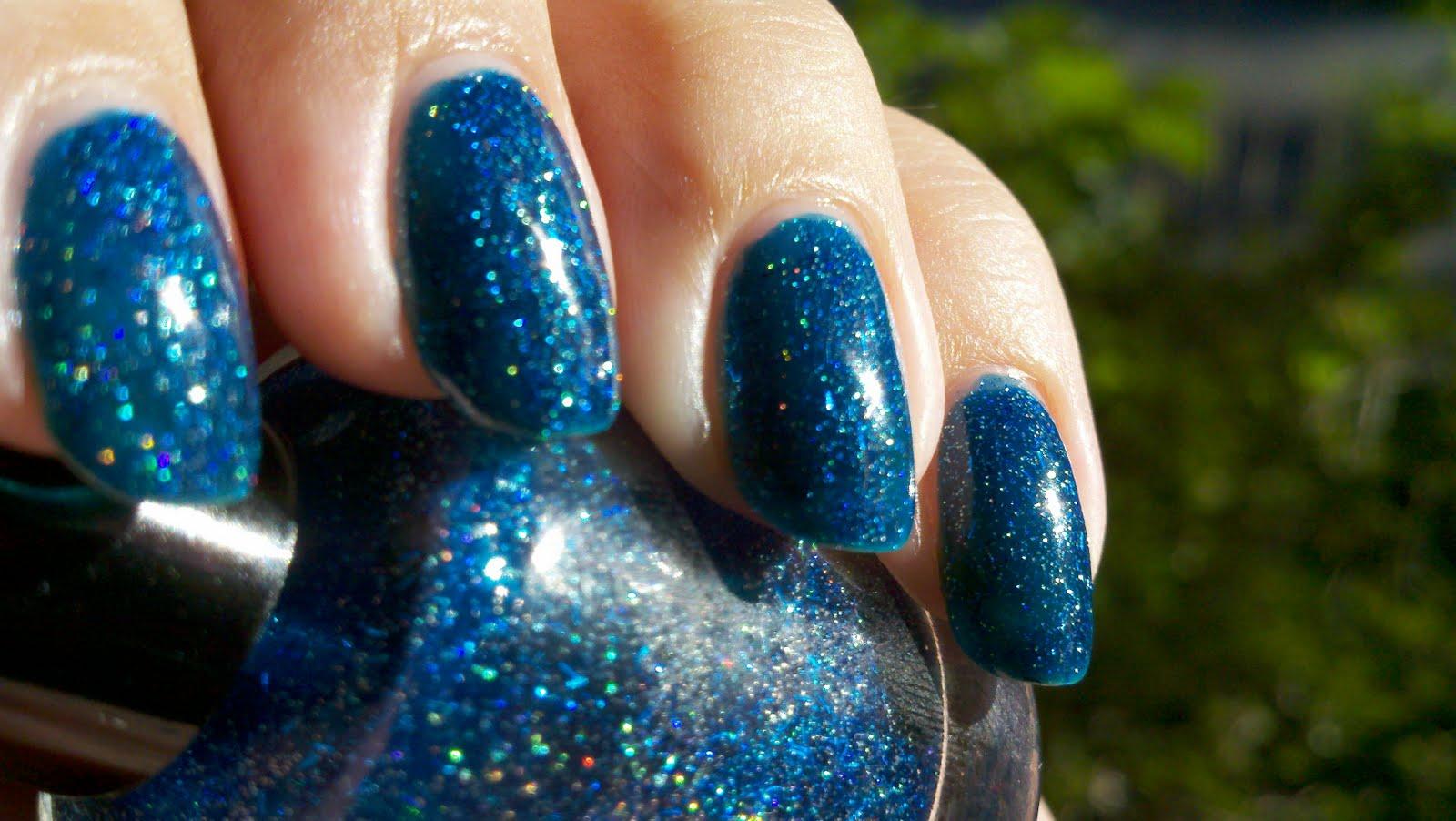 polish insomniac: Blue Jelly Glitter Holo Franken