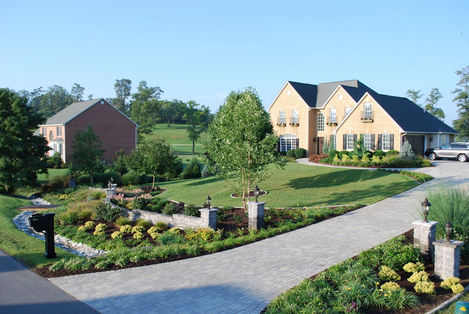 green acres landscaping  award winning landscapes  a front yard facelift for your home