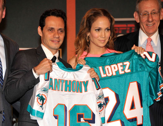 marc anthoy jlo miami dolphins