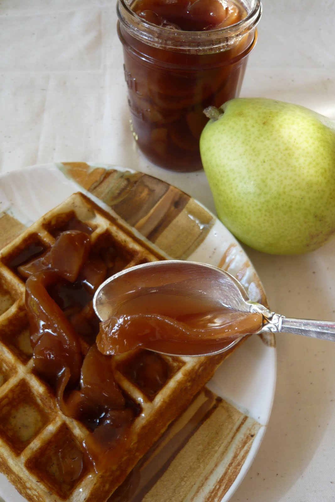 The most delicious pear jam: cooking with love 4