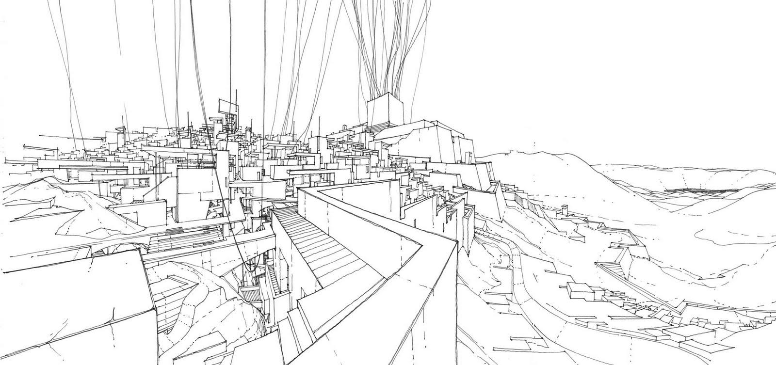 Line Drawing Jerusalem : The architecture draftsman imaginary jerusalem