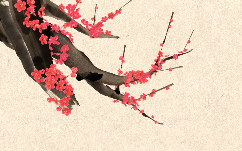 cherry blossom branch drawing. cherry blossom branch drawing.