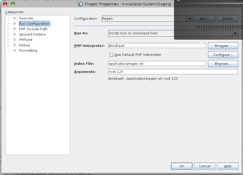 My toy page: Executing shell scripts from NetBeans
