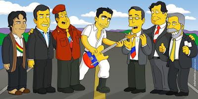 Presidentes de America como  se verian en los Simpsons